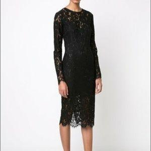 Veronica Beard Black Gynne Pencil Dress Size 2